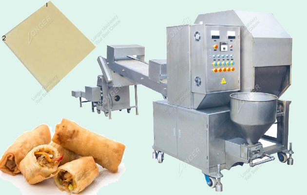 Automatic Egg Roll Wrapper Making Machine For Sale